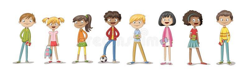 Coleção de algumas crianças bonitos ilustração stock