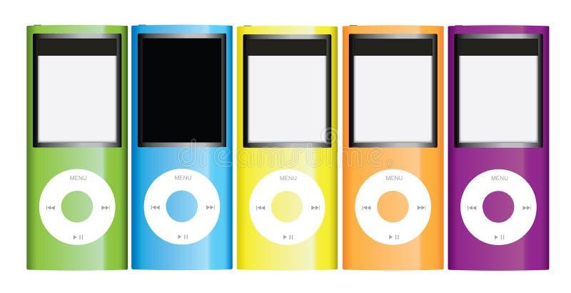 Coleção de Apple iPod Nano ilustração stock