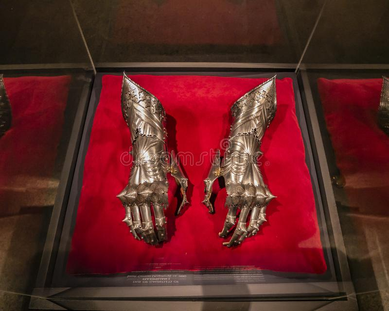 Coleção de armadura do Museu Metropolitano, abundância mundial Nova Iorque, Estados Unidos da América foto de stock royalty free