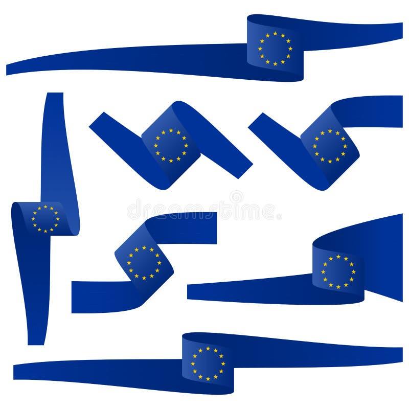 coleção de bandeiras da bandeira do país do EU ilustração royalty free