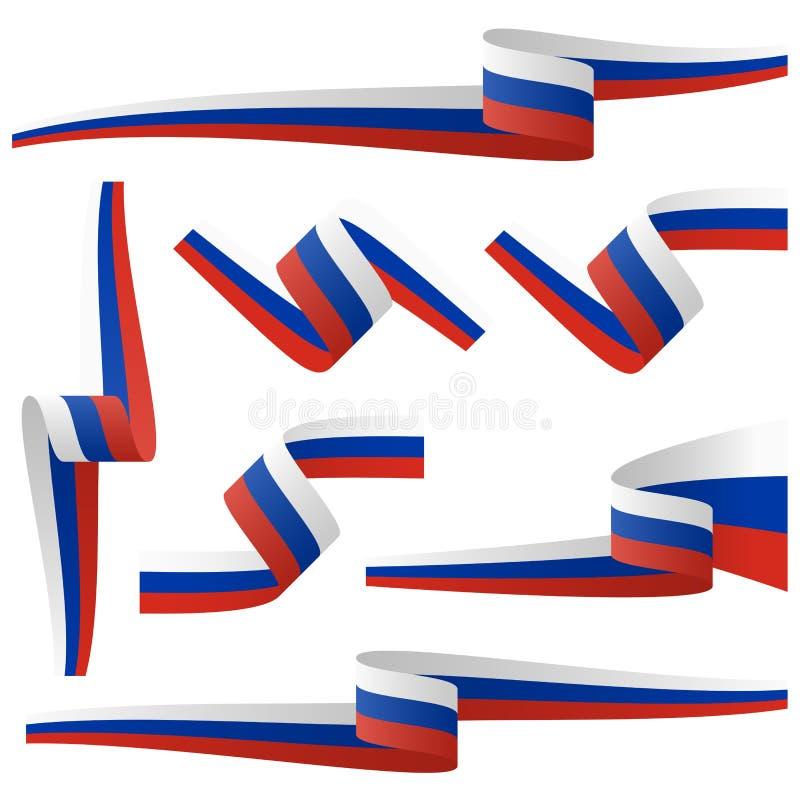 coleção de bandeiras da bandeira de país do russo ilustração do vetor