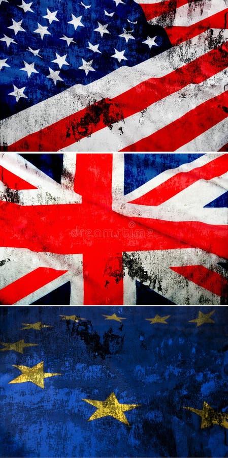 Coleção De Bandeiras Sujas Imagem de Stock