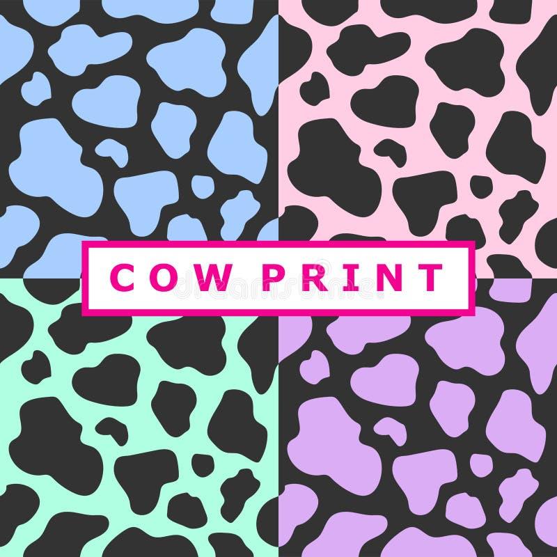 Coleção de cópias da vaca ilustração do vetor