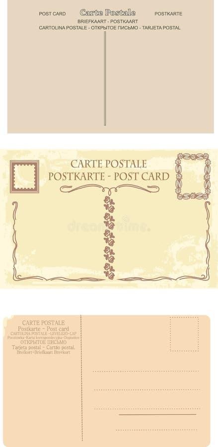 Coleção de cartão retros ilustração royalty free
