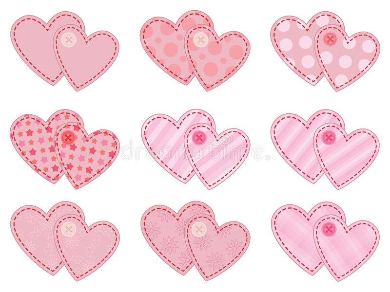 Coleção dos Valentim ilustração stock
