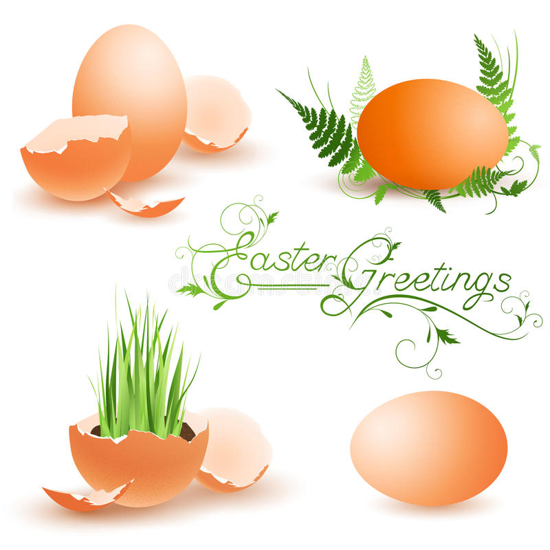 Coleção de Easter ilustração royalty free