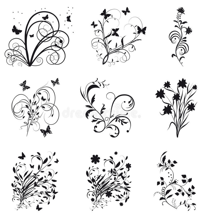 Download Coleção De Elementos Decorativos Para O Projeto Ilustração do Vetor - Ilustração de encabeçamento, gráfico: 12809751
