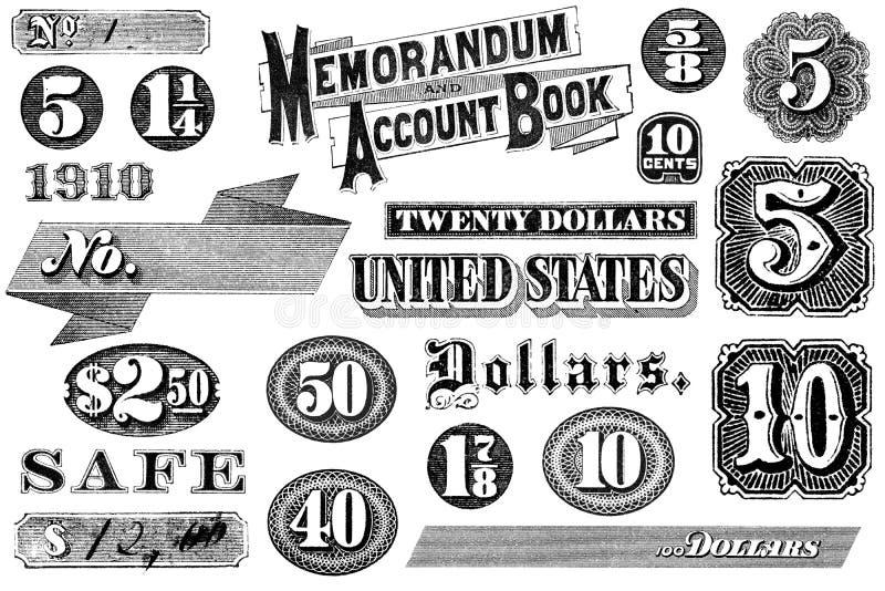 Coleção de elementos do gráfico do vintage ilustração stock