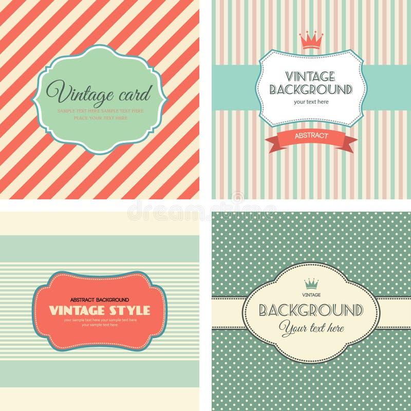 Coleção de etiquetas do vintage ilustração royalty free