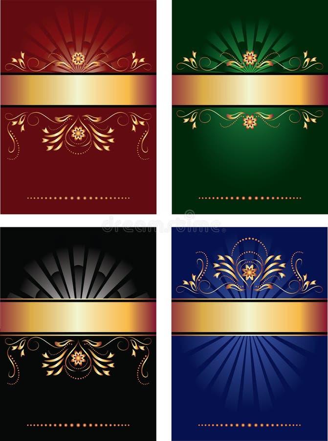 A coleção de fundos do vetor ilustração royalty free