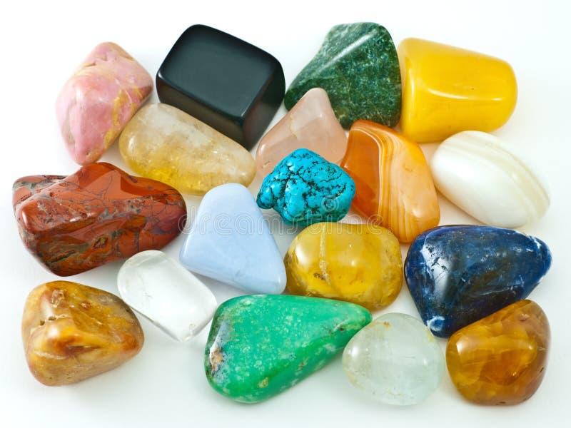 Coleção de gemas semipreciosas foto de stock