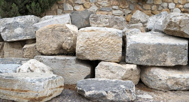 Coleção de grandes pedras sobre se imagem de stock
