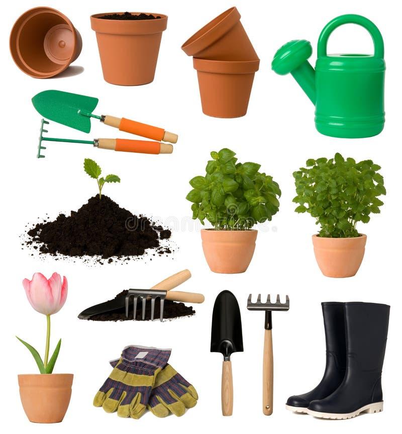 Coleção de jardinagem foto de stock