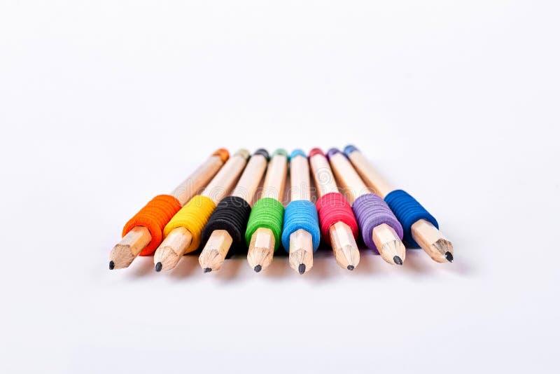Coleção de lápis simples para esboçar fotografia de stock