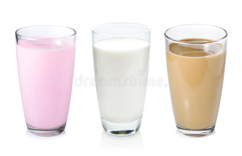 Coleção de leite imagens de stock