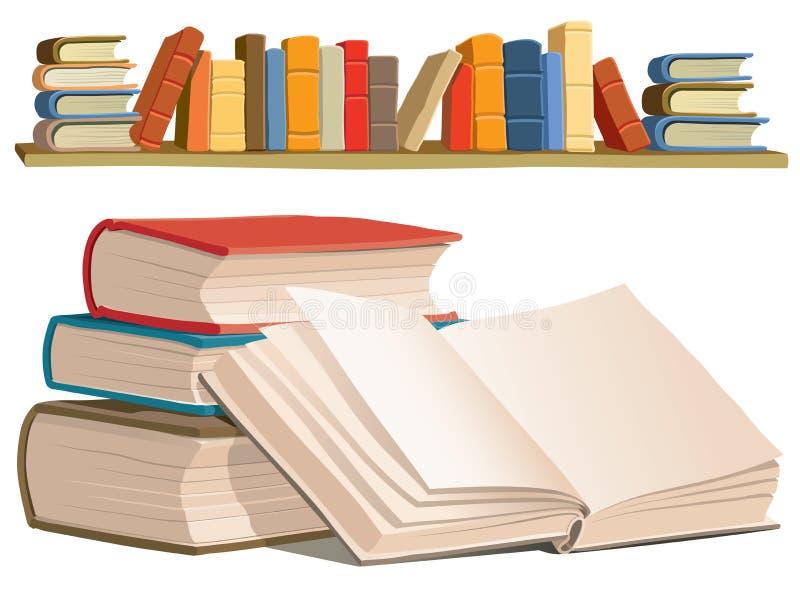 Coleção de livros ilustração royalty free