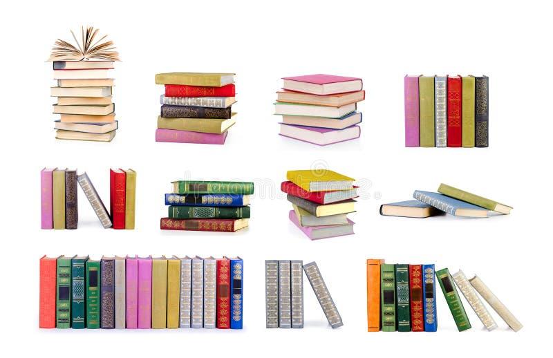 Coleção de livros velhos fotografia de stock