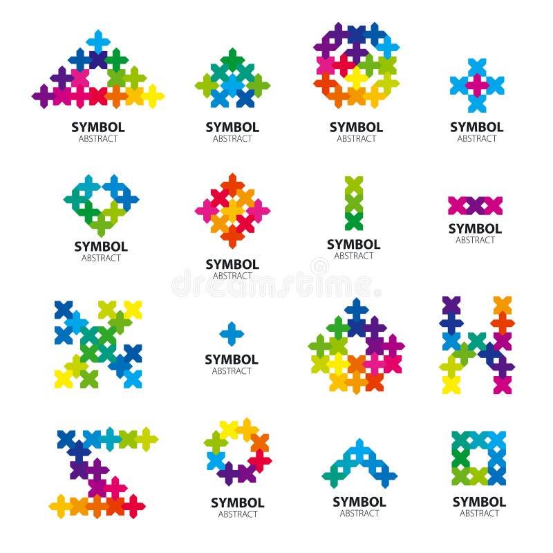 Coleção de logotipos do vetor dos módulos abstratos ilustração do vetor