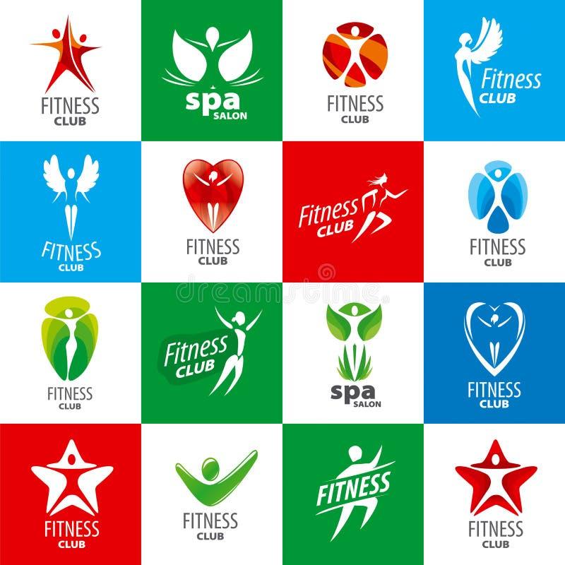 Coleção de logotipos do vetor para clubes de aptidão ilustração do vetor