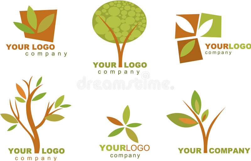 Coleção de logotipos e de ícones da natureza ilustração do vetor