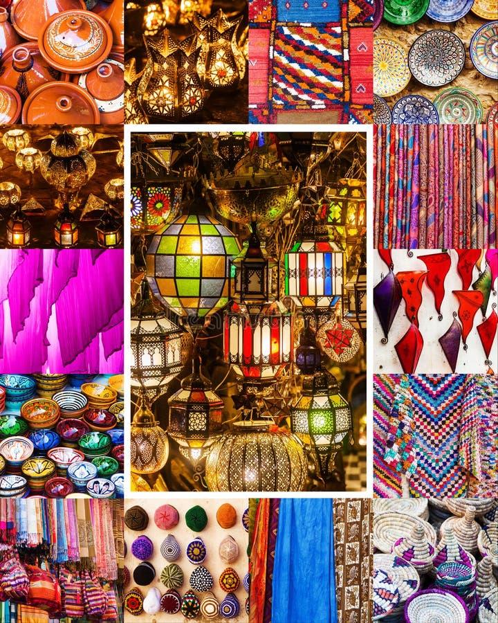 Coleção de ofícios tradicionais de C4marraquexe imagem de stock royalty free