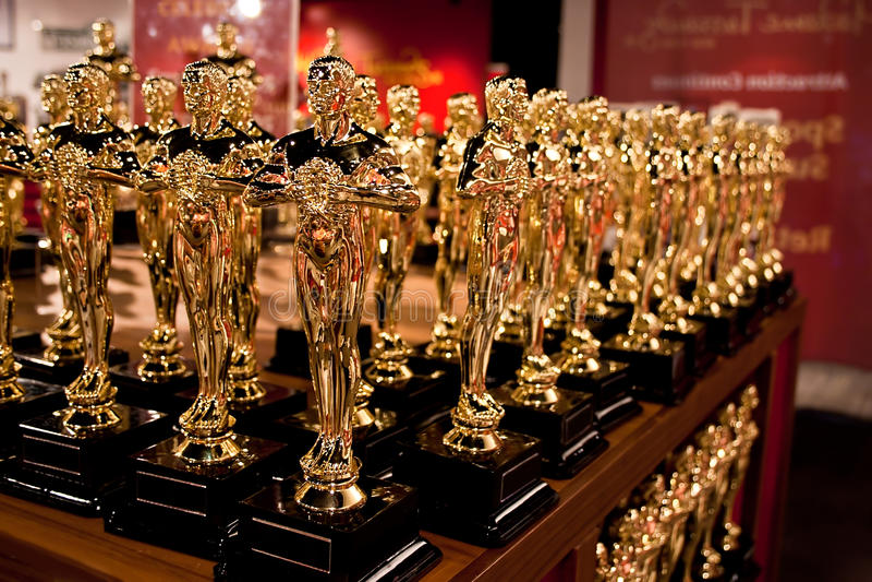 A coleção de Oscar imagens de stock royalty free