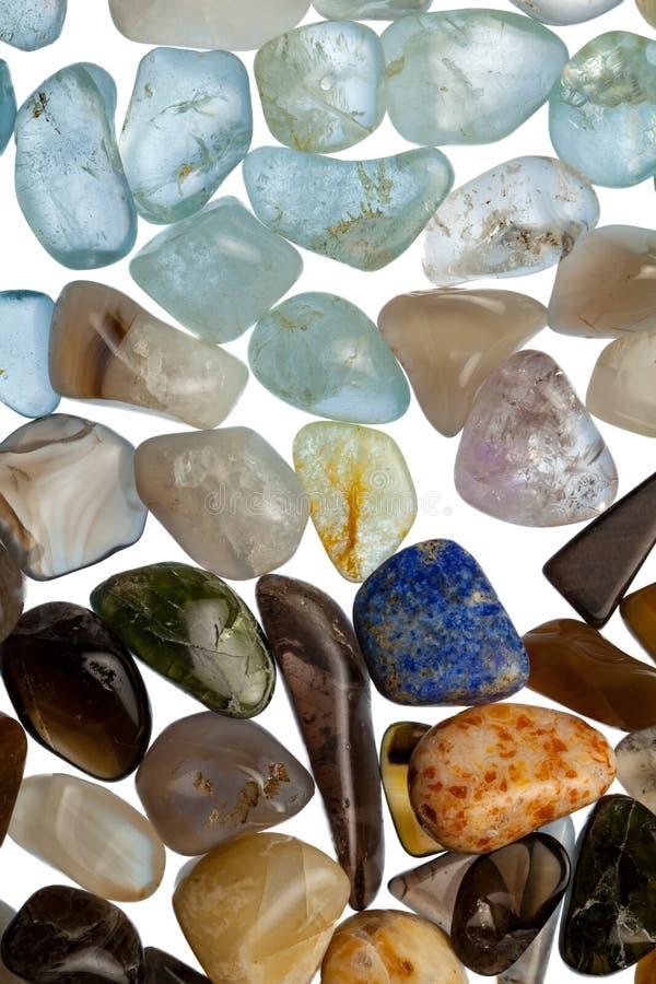 Coleção de pedras semipreciosas fotos de stock
