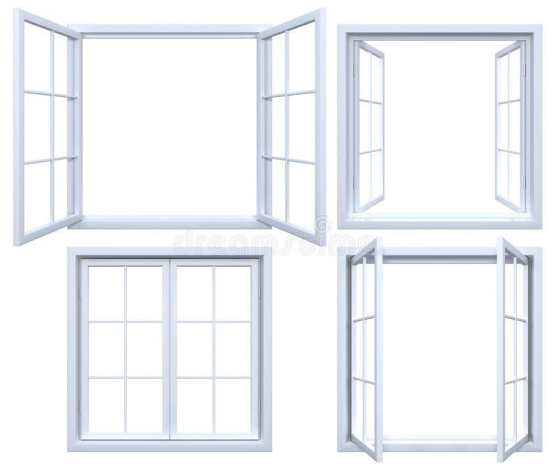 Coleção de quadros de janela isolados ilustração do vetor