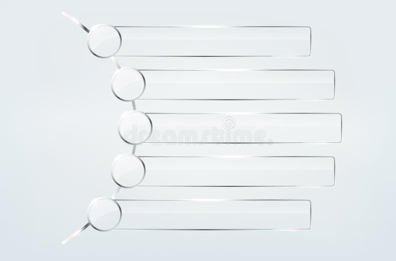 Coleção de quadros de vidro transparentes ilustração do vetor