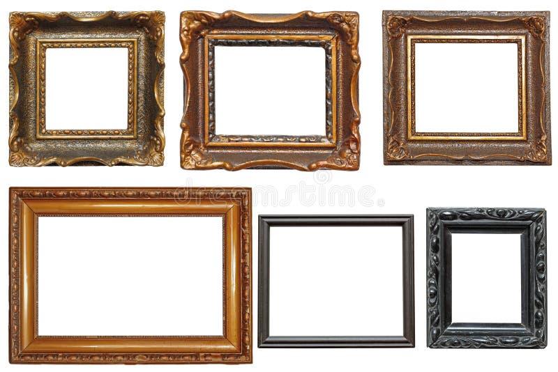 Coleção de quadros muito velhos da pintura fotografia de stock royalty free