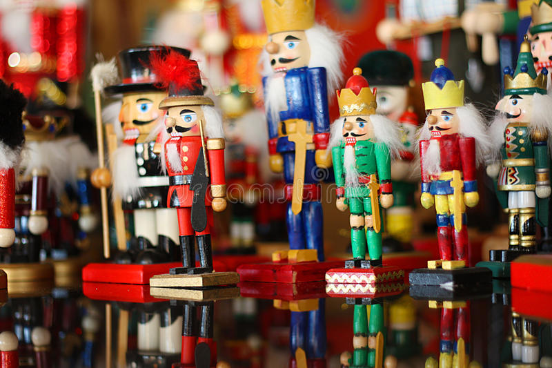 Coleção de quebras-nozes do Natal fotografia de stock royalty free