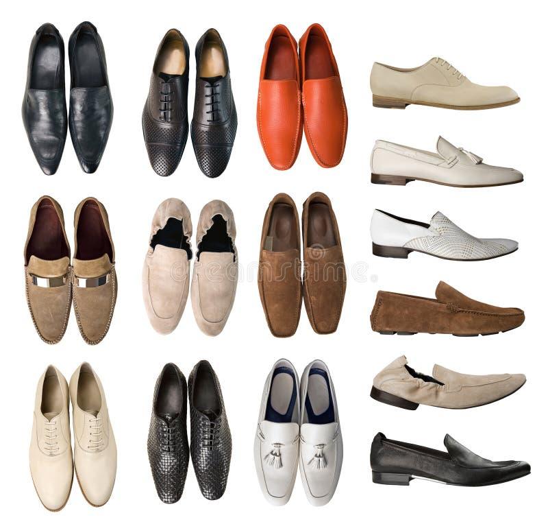 Coleção de sapatas dos homens foto de stock