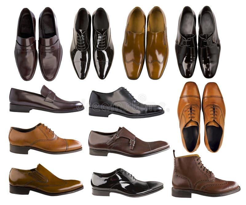 Coleção de sapatas dos homens imagem de stock royalty free