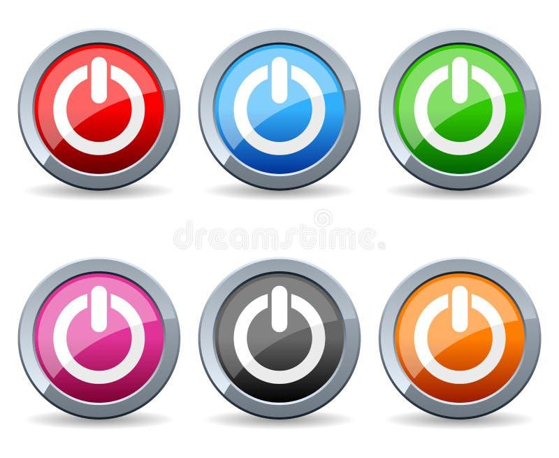 Botões coloridos da Web do poder ilustração royalty free