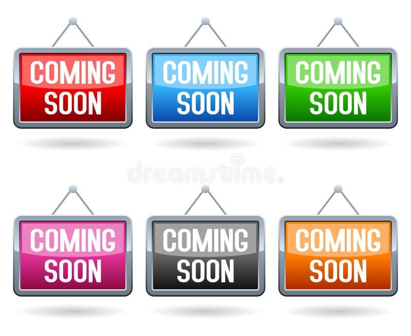 Vinda logo botões da Web ilustração royalty free