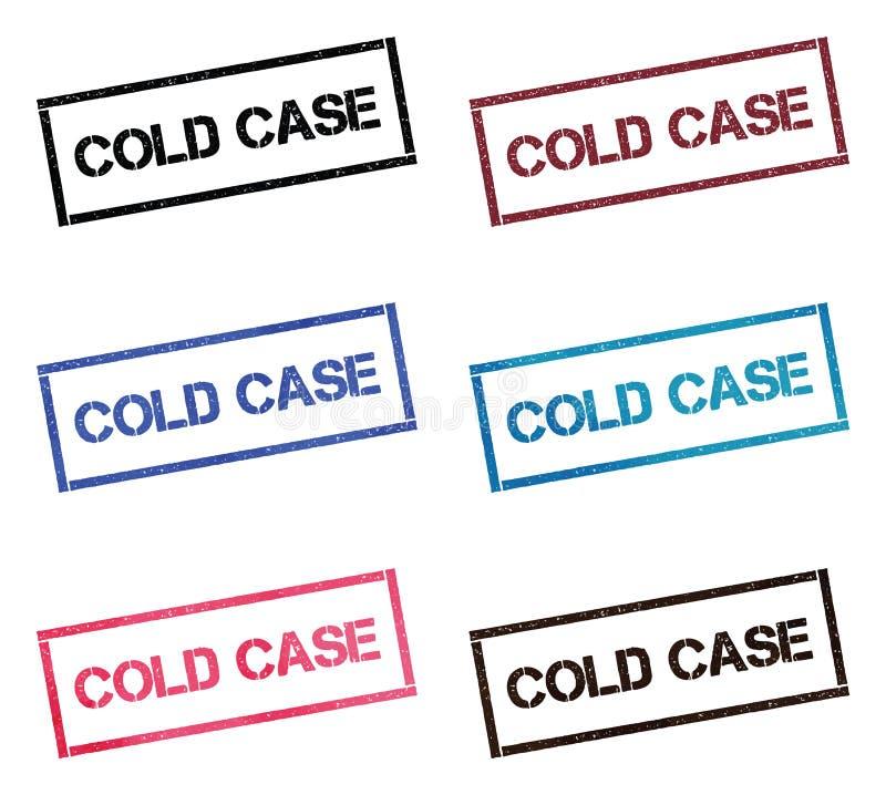 Coleção de selo retangular do caso arquivado ilustração stock