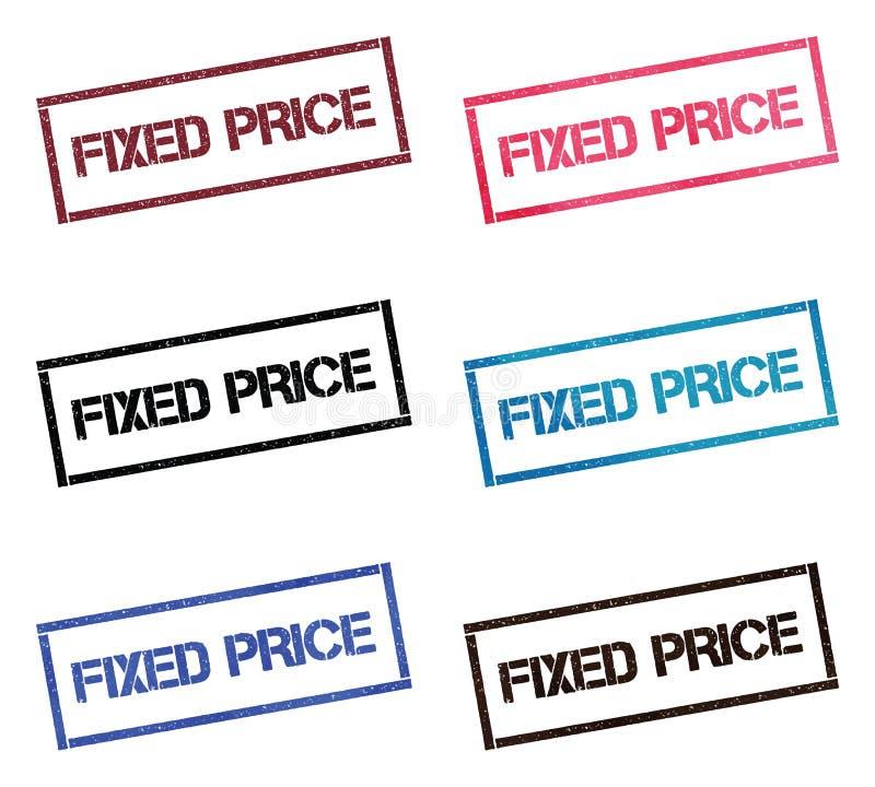 Coleção de selo retangular do preço fixo ilustração stock