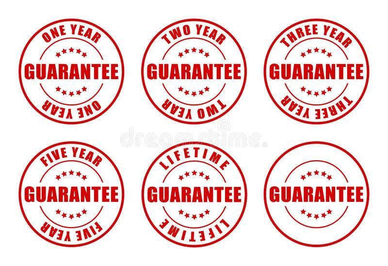 Coleção de selos da garantia ilustração royalty free
