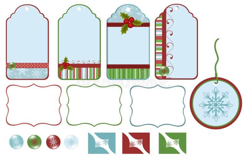 Coleção de Tag do Natal ilustração stock