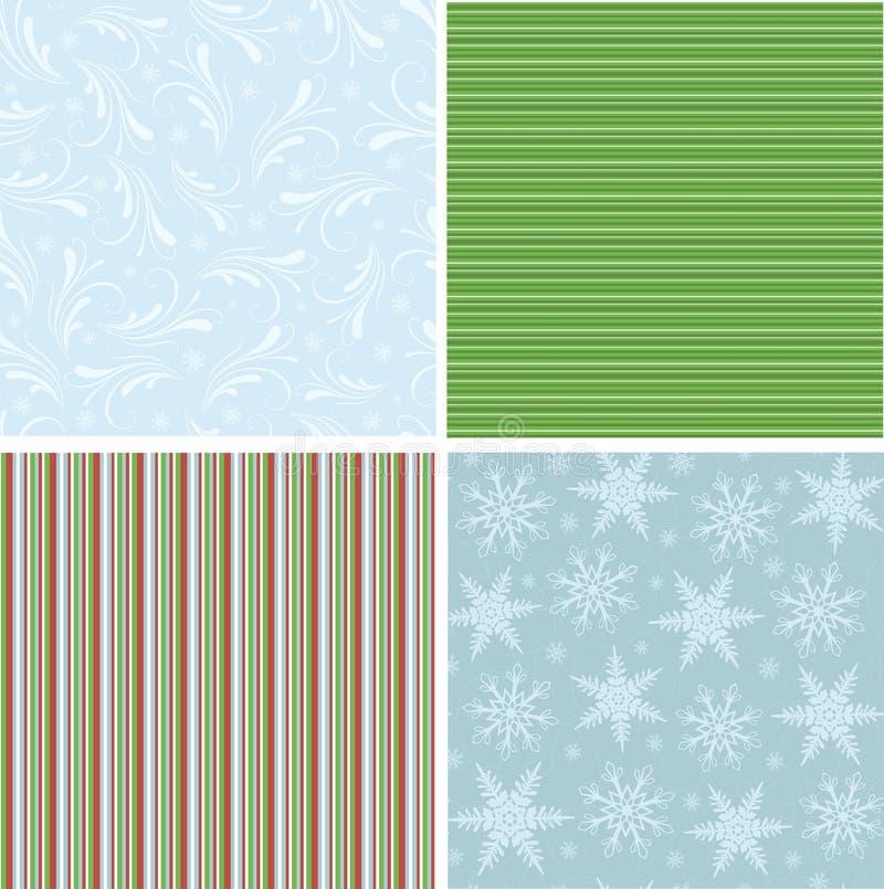Coleção de testes padrões sem emenda do Natal ilustração do vetor