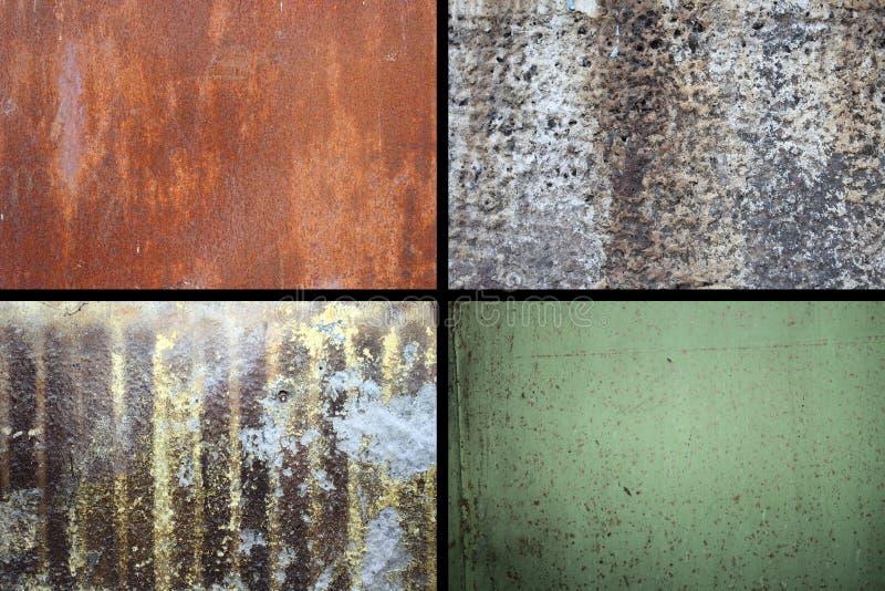 Coleção de texturas oxidadas imagens de stock