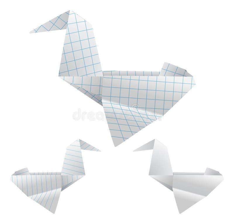 Download Pássaros de Origami ilustração do vetor. Ilustração de pato - 29840611