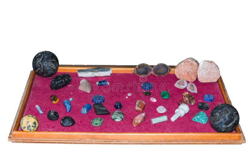 Coleção de várias pedras semipreciosas imagens de stock royalty free