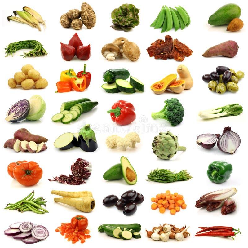 Coleção de vegetais frescos e coloridos foto de stock