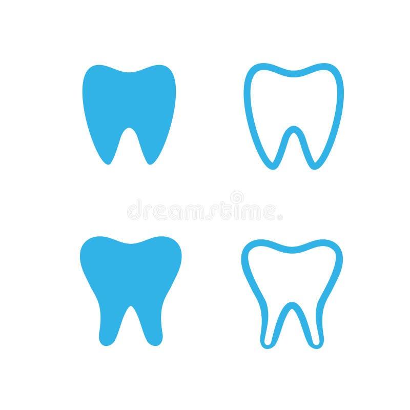 Coleção dental do ícone foto de stock