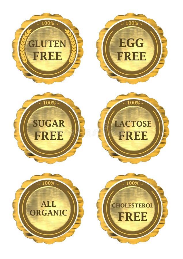 Coleção do ícone da dieta ilustração royalty free