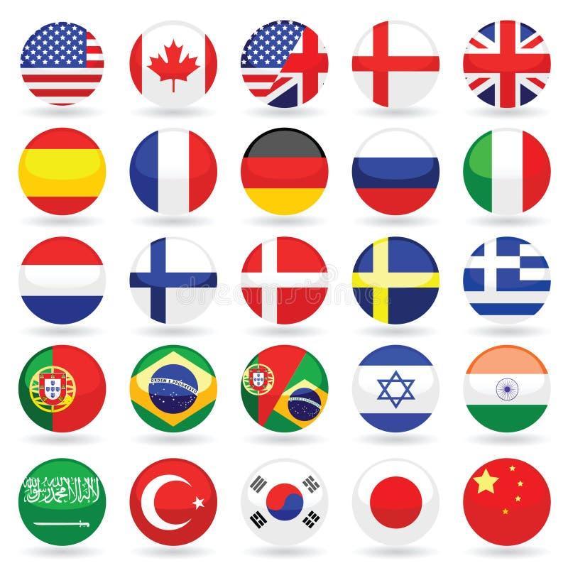 Coleção do ícone da língua do Web ilustração royalty free