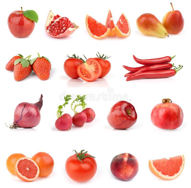 Coleção do alimento. Toda vermelho. foto de stock