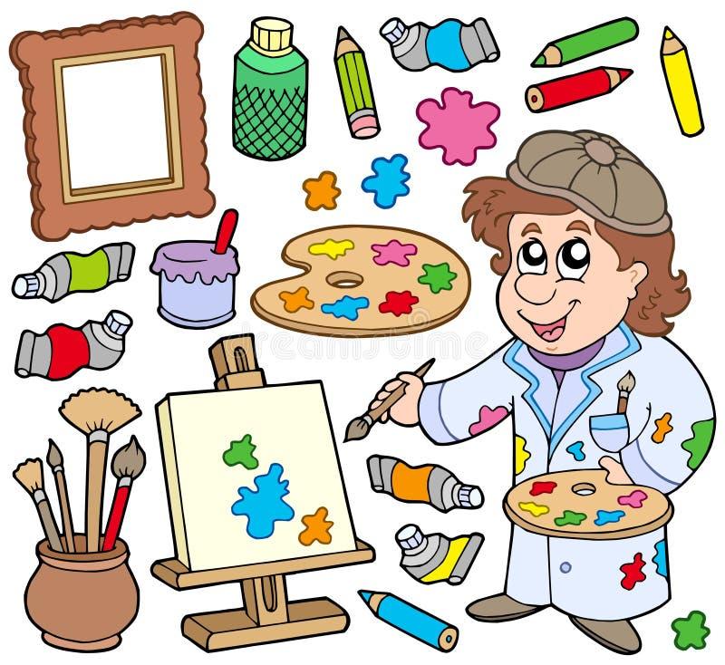 Download Coleção do artista ilustração do vetor. Ilustração de pastel - 12804795