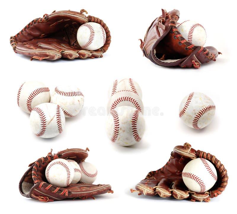 Coleção do basebol fotografia de stock